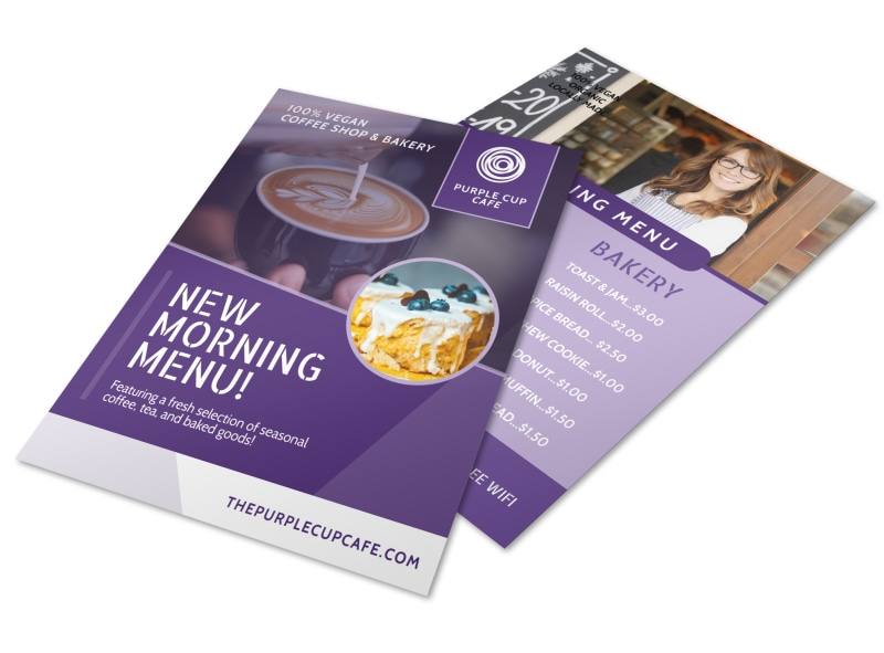 New Morning Menu Coffee Flyer Template