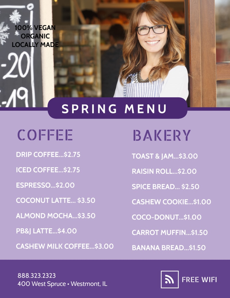 New Morning Menu Coffee Flyer Template Preview 3