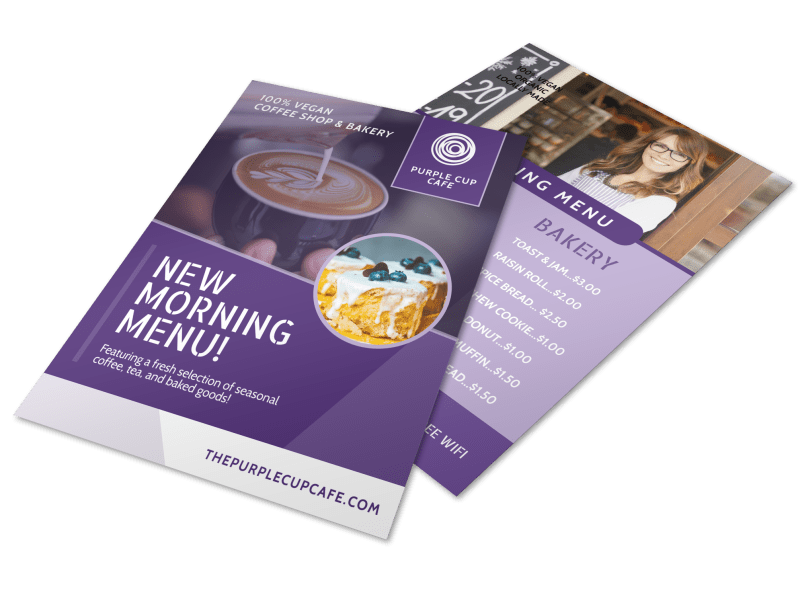 New Morning Menu Coffee Flyer Template Preview 1