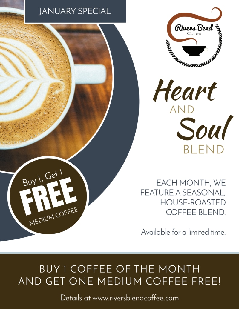 BOGO Coffee Flyer Template Preview 2
