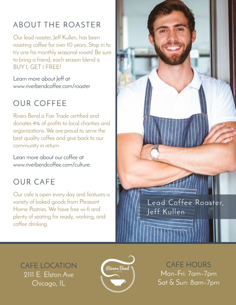 BOGO Coffee Flyer Template Preview 3