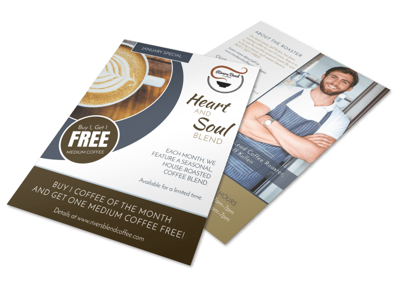 BOGO Coffee Flyer Template Preview 1