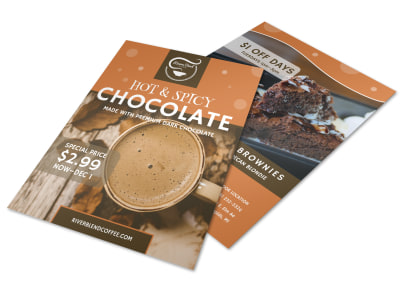 Hot & Spicy Chocolate Drink Flyer Template