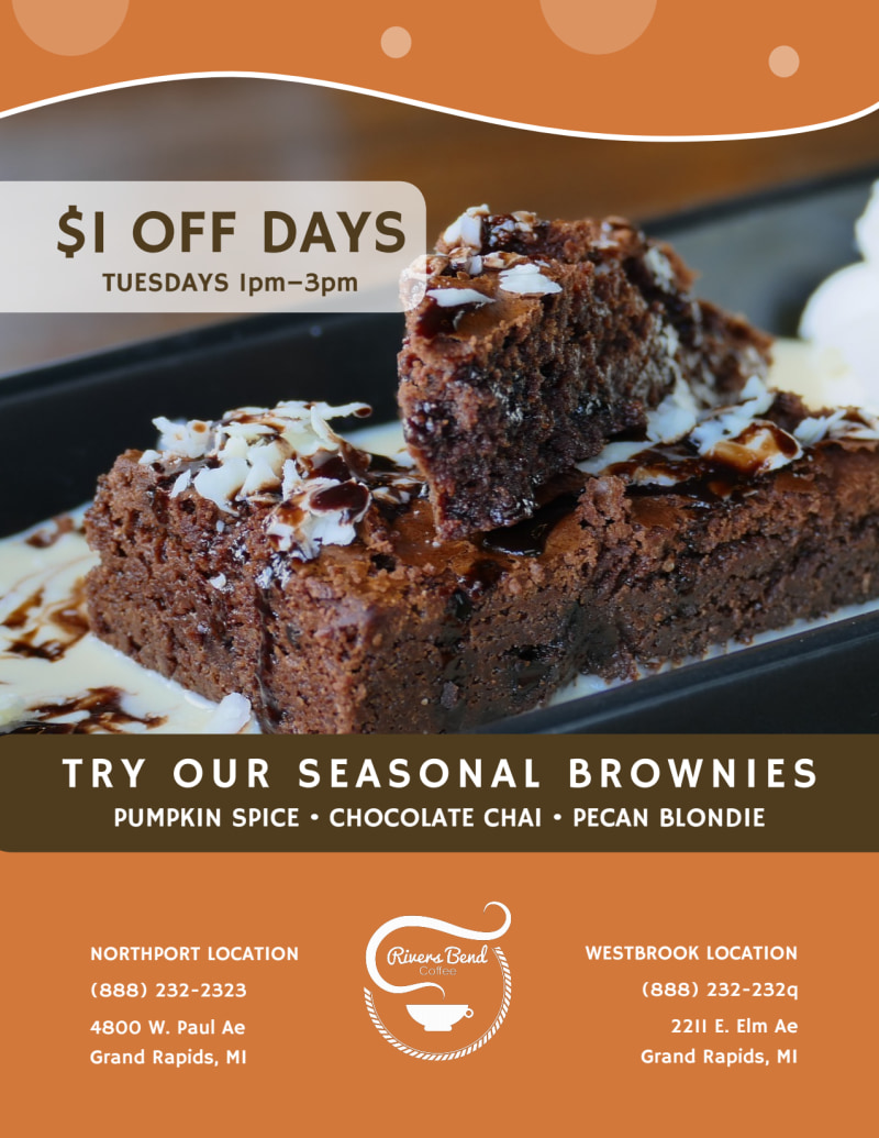 Hot & Spicy Chocolate Drink Flyer Template Preview 3