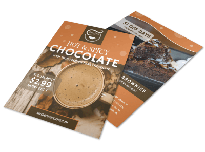 Hot & Spicy Chocolate Drink Flyer Template Preview 1