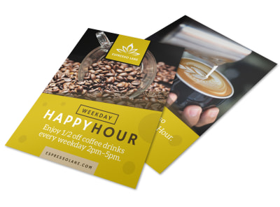 Coffee Happy Hour Flyer Template