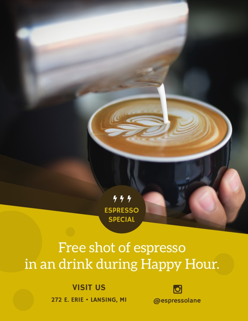 Coffee Happy Hour Flyer Template Preview 3