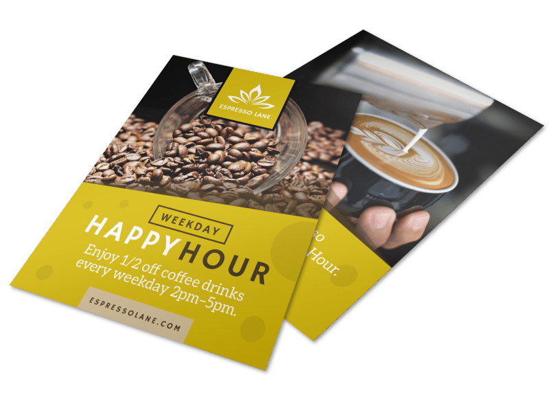 Coffee Happy Hour Flyer Template Preview 1