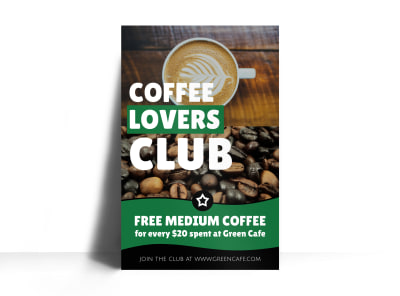 Coffee Lovers Rewards Program Poster Template