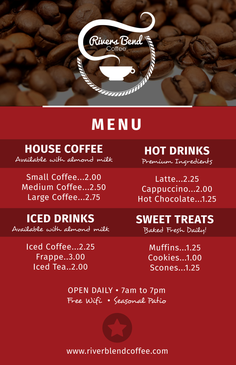 Coffee Menu Poster Template Preview 2