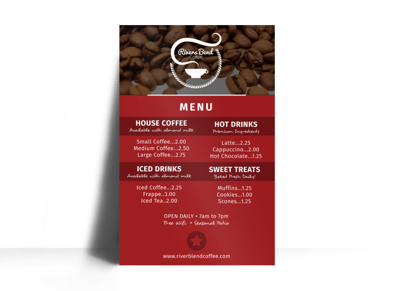 Coffee Menu Poster Template Preview 1