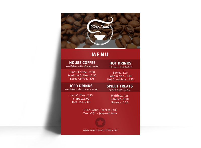 Coffee Menu Poster Template