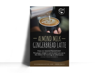 Gingerbread Latte Featured Drink Poster Template