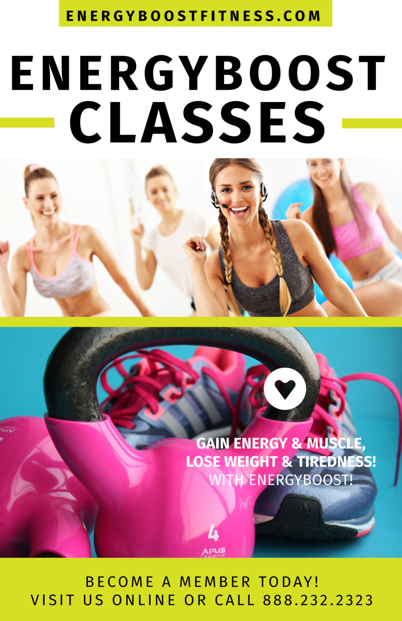 Fitness Class Energy Boost Poster Template Preview 2
