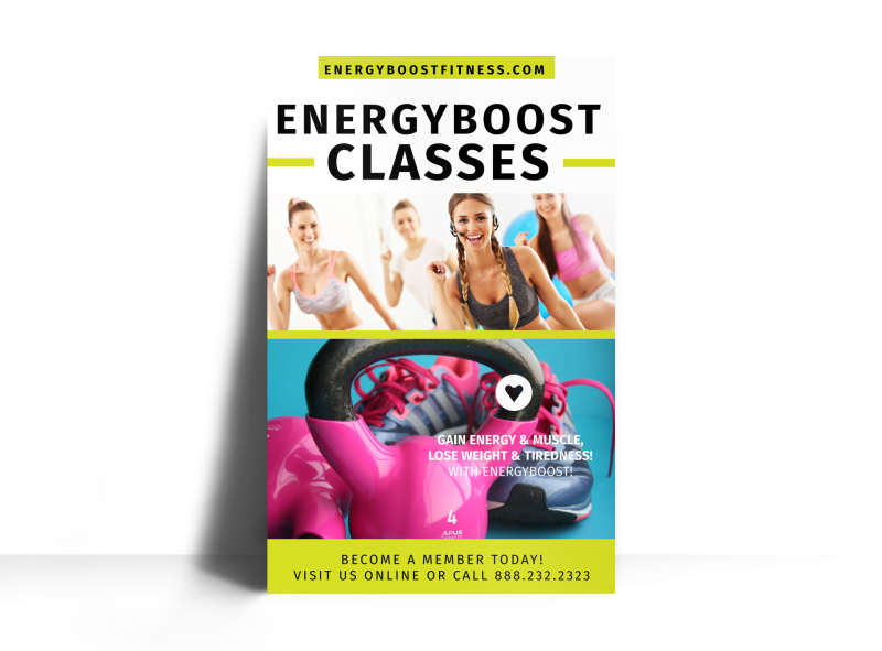 Fitness Class Energy Boost Poster Template Preview 1