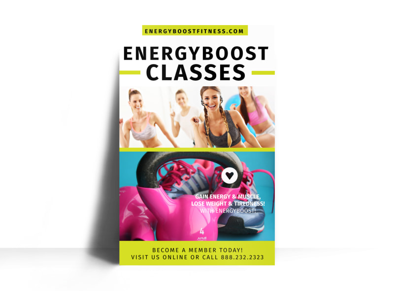 Fitness Class Energy Boost Poster Template