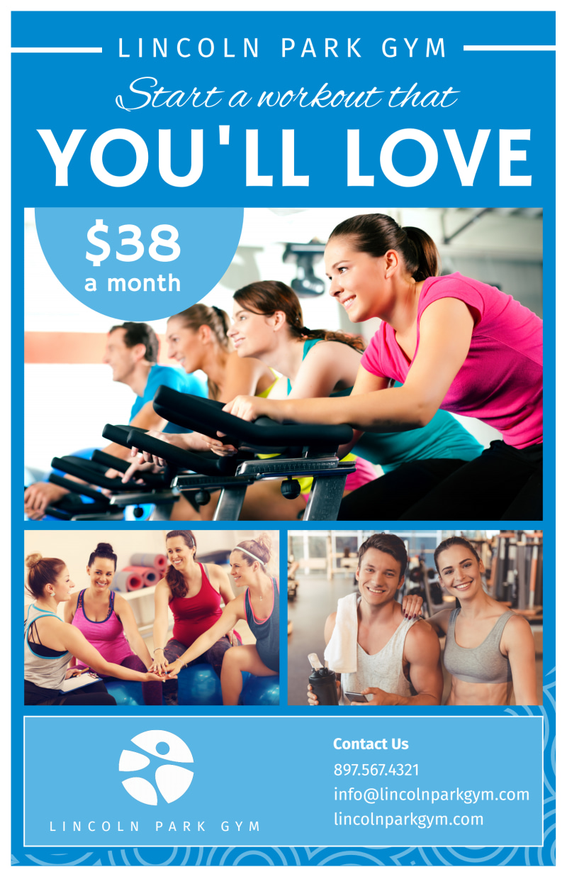 Fitness Membership Details Poster Template Preview 2