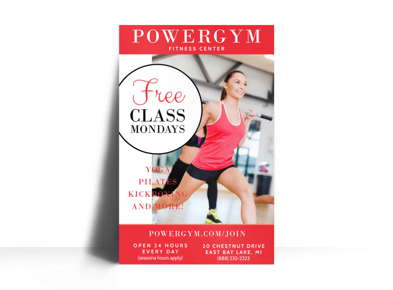 Fitness Special Offer Poster Template Preview 1