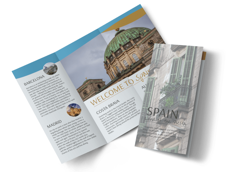 Spain Travel Tri-Fold Brochure Template Preview 1
