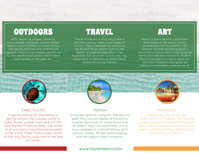 Mexico Travel Tri-Fold Brochure Template Preview 2