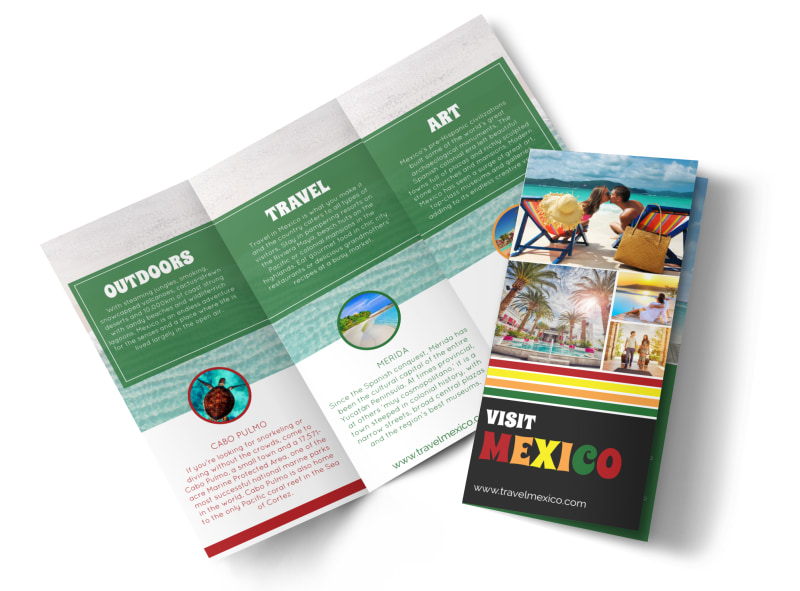 Mexico Travel Tri-Fold Brochure Template Preview 4
