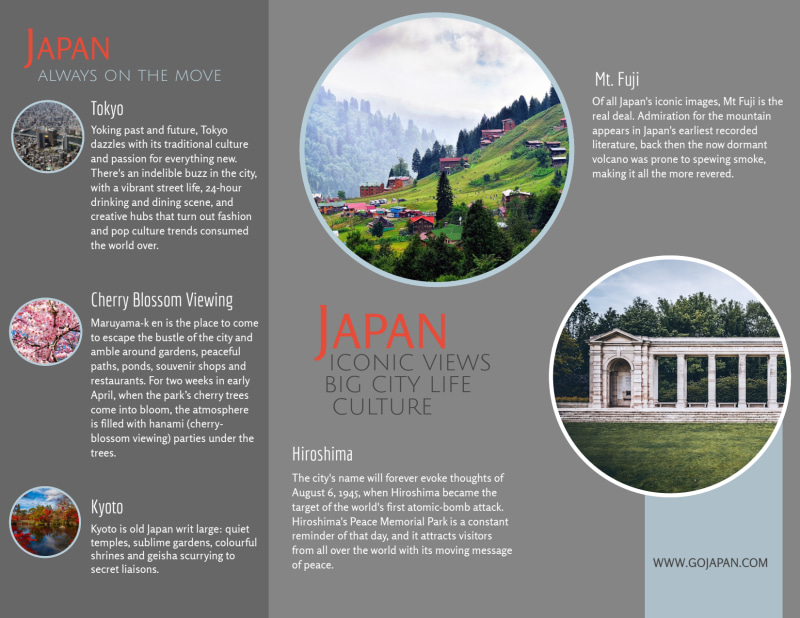 Japan Travel Tri-Fold Brochure Template Preview 3