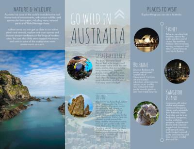 Travel Australia Tri-Fold Brochure Template Preview 2