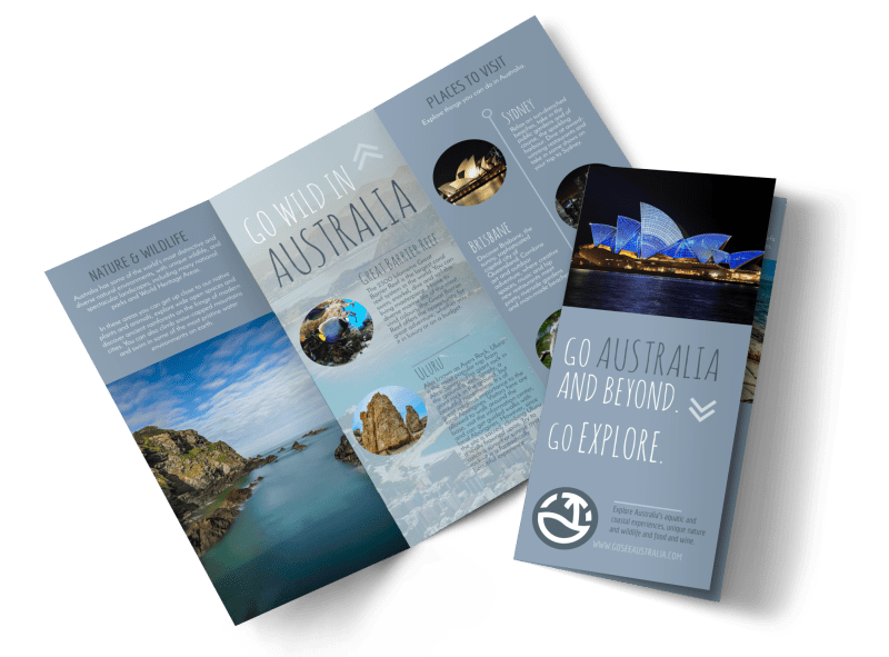 Travel Australia Tri-Fold Brochure Template Preview 1