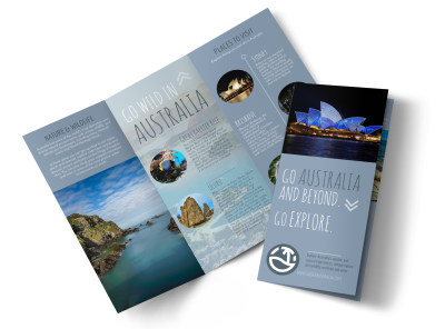 travel australia tri fold brochure template