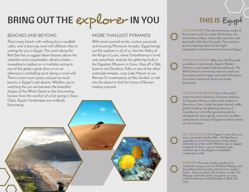 Travel Egypt Tri-Fold Brochure Template Preview 3
