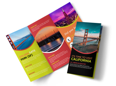 Travel California Tri-Fold Brochure Template preview