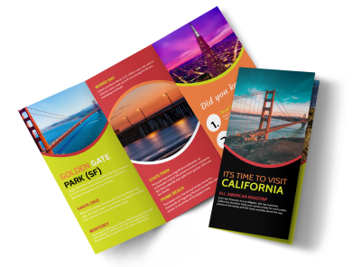 Travel California Tri-Fold Brochure Template Preview 1