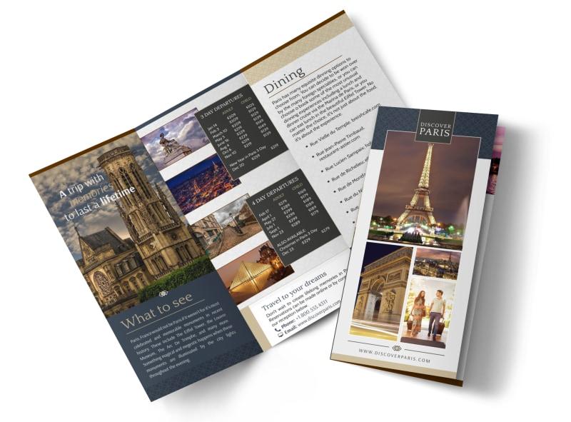Travel Paris Tri-Fold Brochure Template