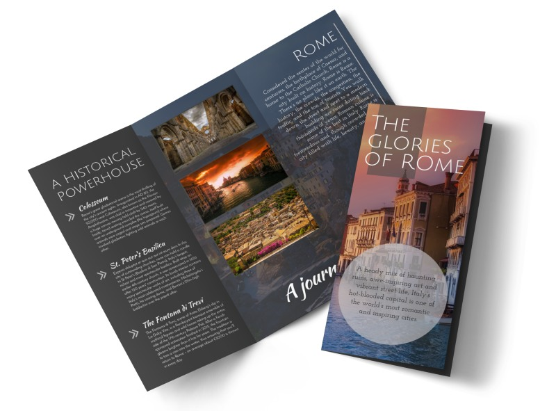 tri fold travel brochure template - travel rome tri fold brochure template mycreativeshop