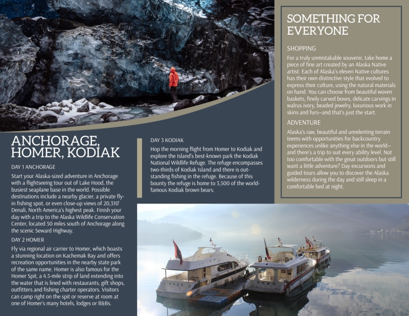 Travel Alaska Tri-Fold Brochure Template Preview 3