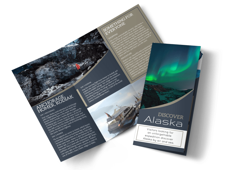 Travel Alaska Tri-Fold Brochure Template Preview 1