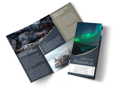Travel Alaska Tri-Fold Brochure Template preview