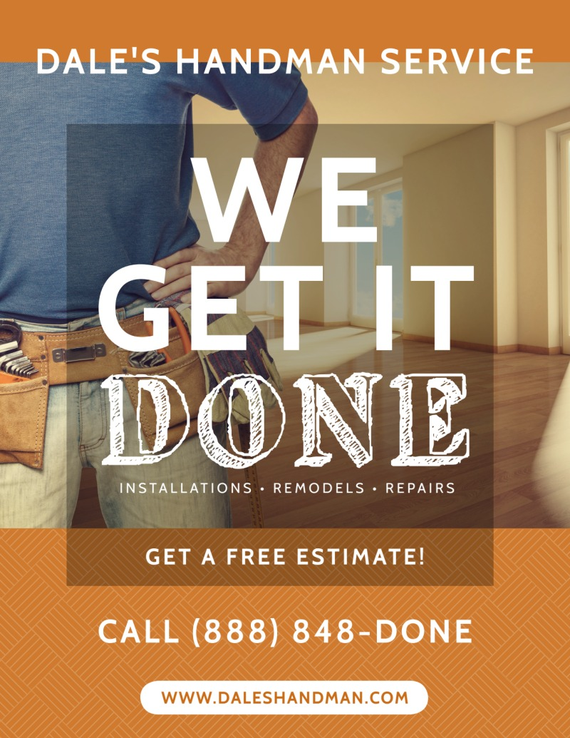 Handyman Free Estimates Flyer Template Preview 2