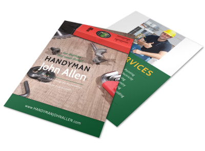 Handyman Services Offered Flyer Template preview