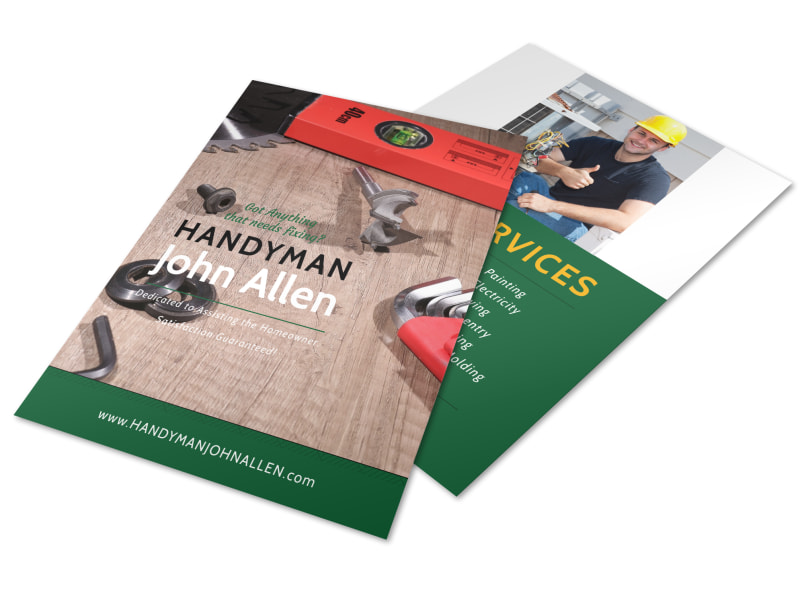 Handyman Services Offered Flyer Template