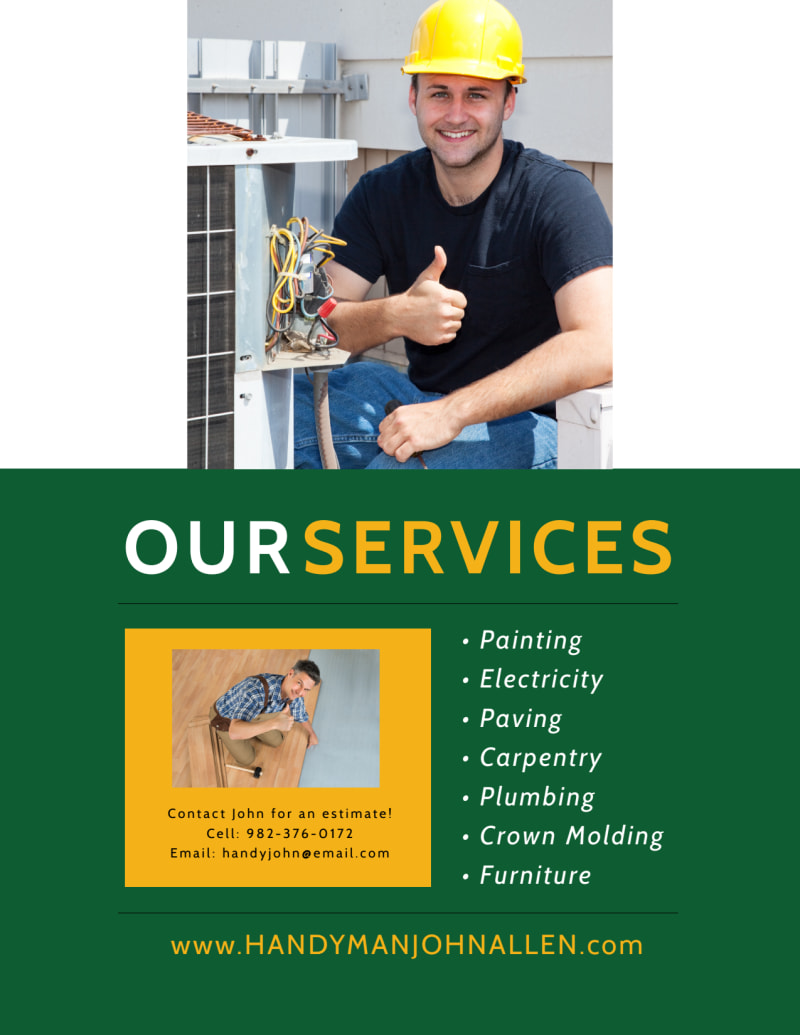 Handyman Services Offered Flyer Template Preview 3