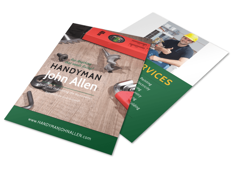 Handyman Services Offered Flyer Template Preview 1