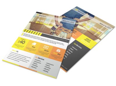 Handyman Home Improvement Flyer Template preview