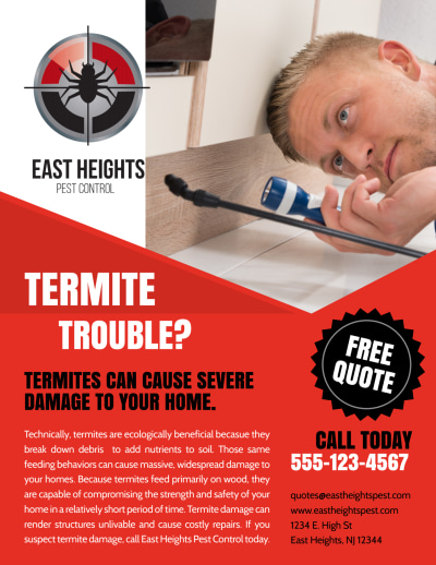 Free Quote Pest Control Flyer Template Preview 1