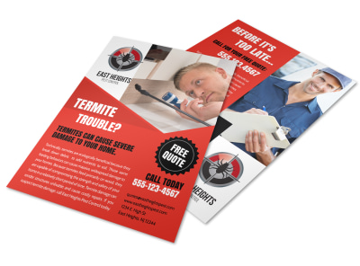 Free Quote Pest Control Flyer Template preview