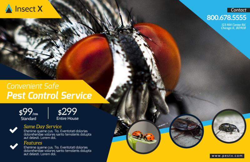Elite Pest Control Postcard Template Preview 2