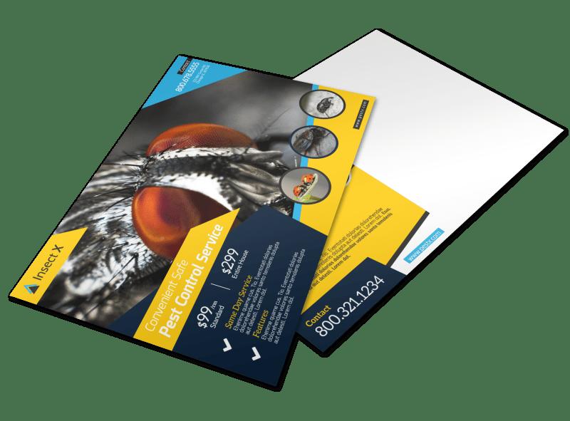 Elite Pest Control Postcard Template Preview 1