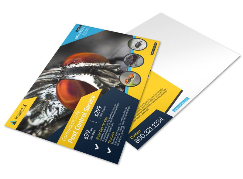 elite pest control postcard template