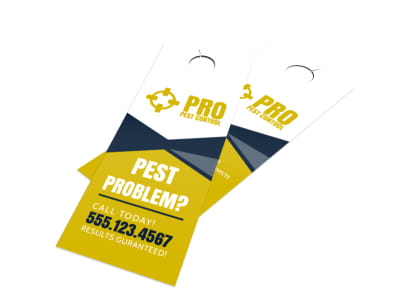Pro Pest Control Door Hanger Template preview