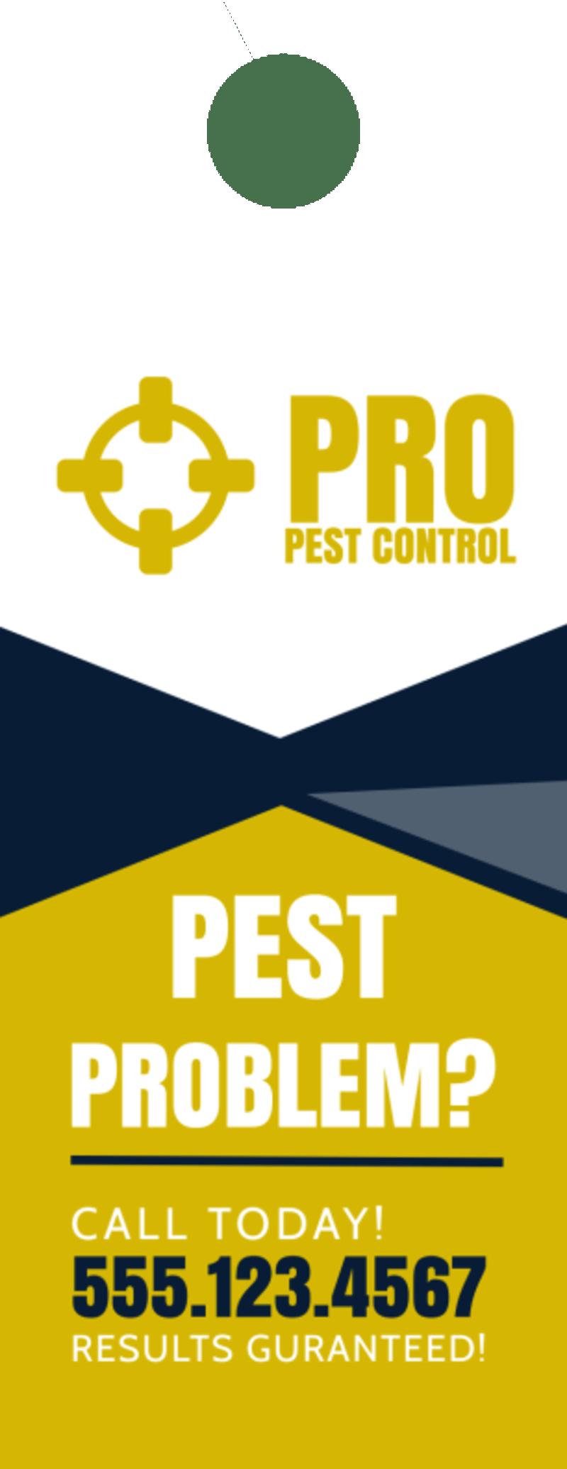 Pro Pest Control Door Hanger Template Preview 2